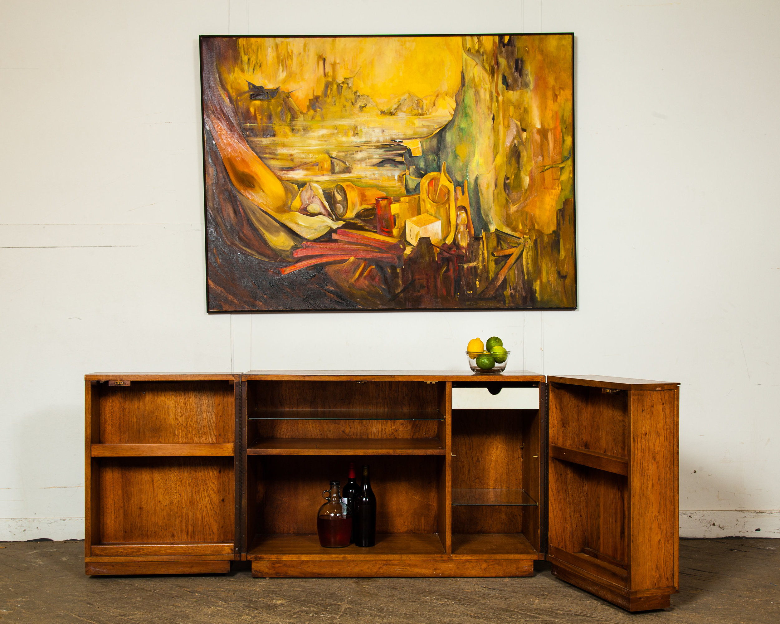 1960s Henredon Style Opening Bar And Buffet ...