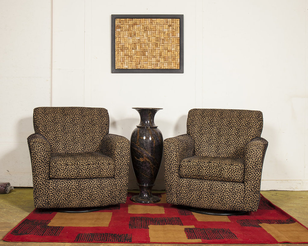 Delicieux Modern Leopard Print Rocking Chairs (Set Of Two)