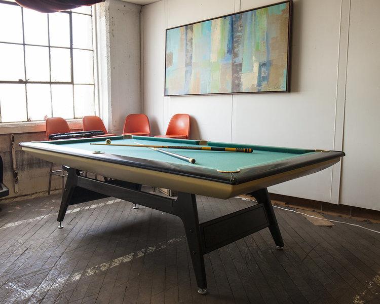 S Brunswick Mach Pool Table MidCentury Danish Modern - Retro pool table
