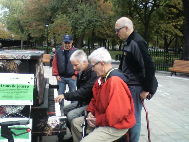 Séance musicale au parc Laurier