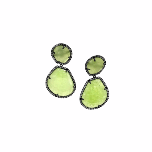 earring boutique access semi green oval products copy earrings precious stone of