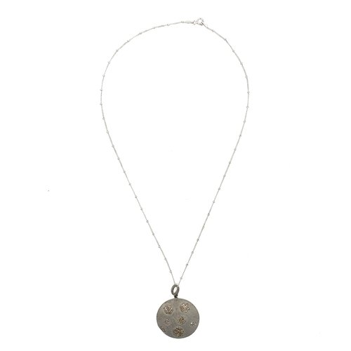 Ashley gold sterling silver with diamond disc pendant necklace ashley gold sterling silver with diamond disc pendant necklace aloadofball Choice Image