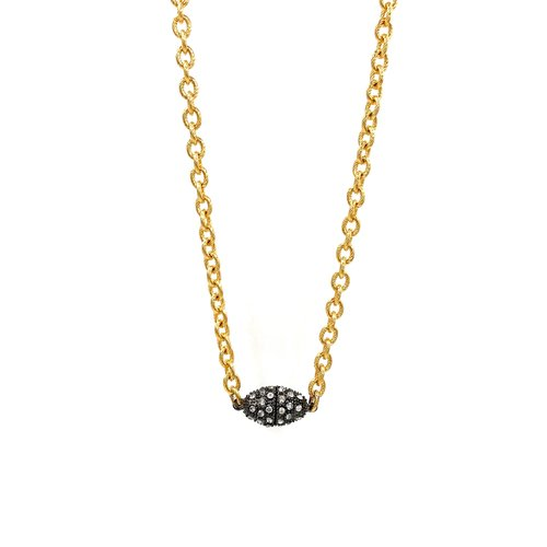 Ashley Gold Stainless Steel Gold Plated Necklace with CZ Magnetic Clasp 0c8693f689