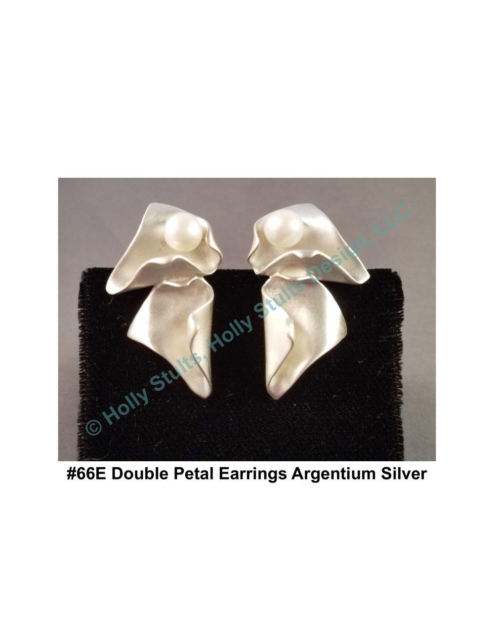 #66E Double Petal Earrings Argentium Silver.jpg