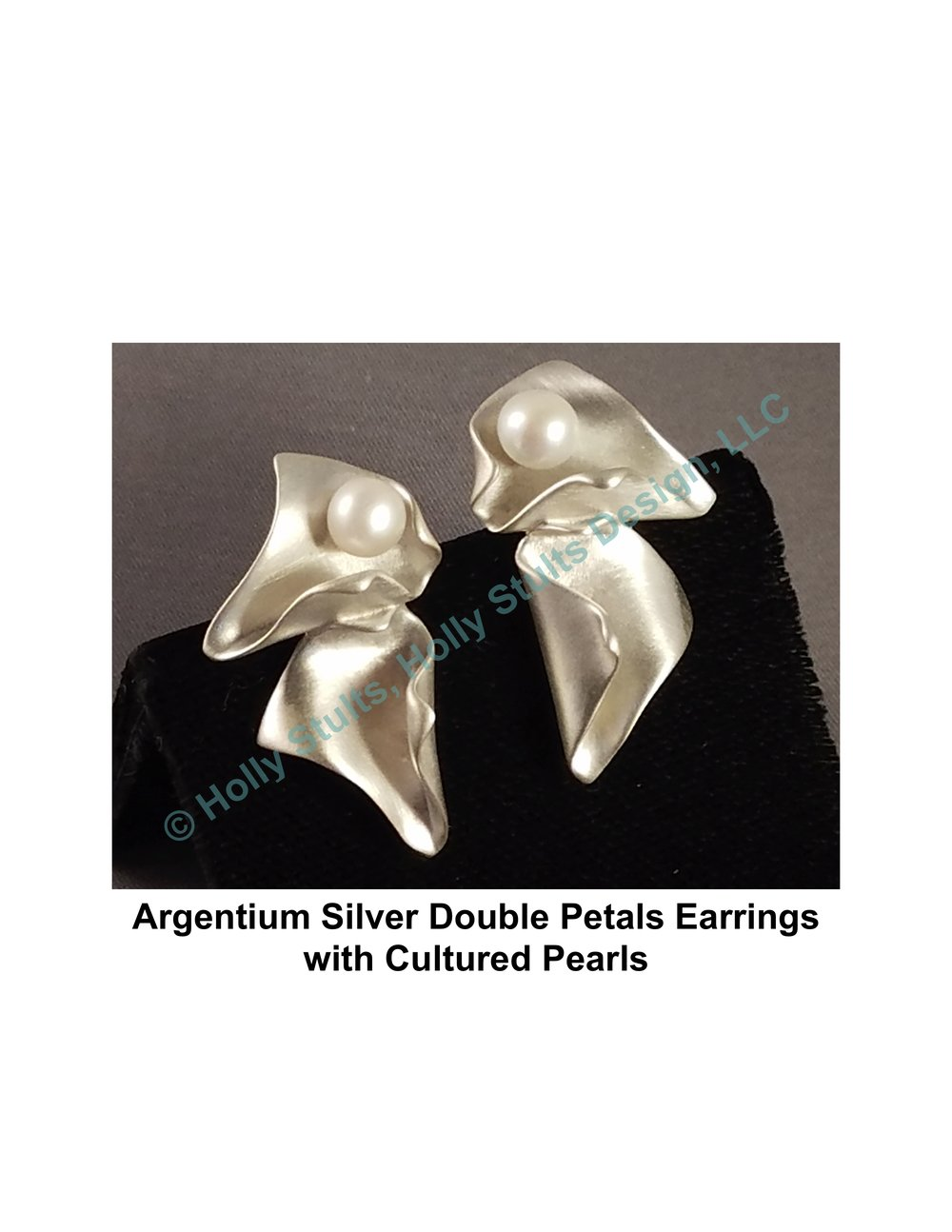 Argentium Silver Double Petals Earrings with Cultured Pearls.jpg