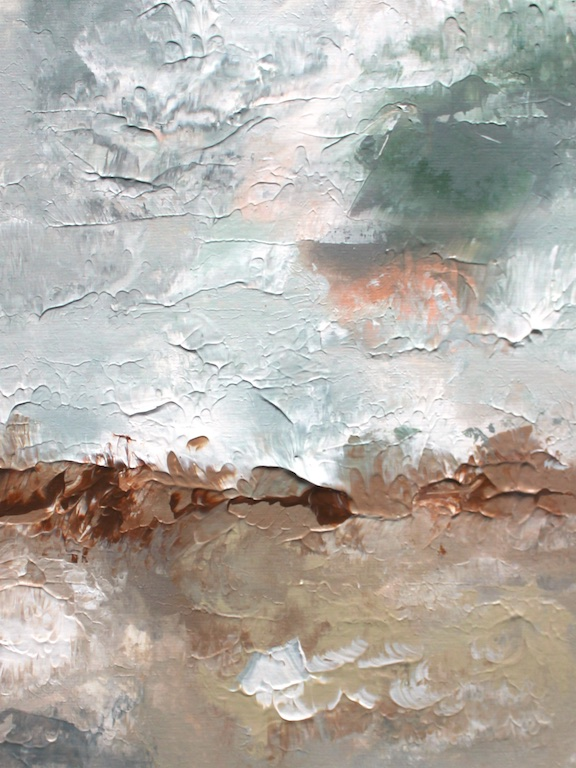 """ABSTRACT BEACH IN MORNING (I)  9"""" X 11""""  Acrylic on paper   SOLD  (contact for custom painting)"""