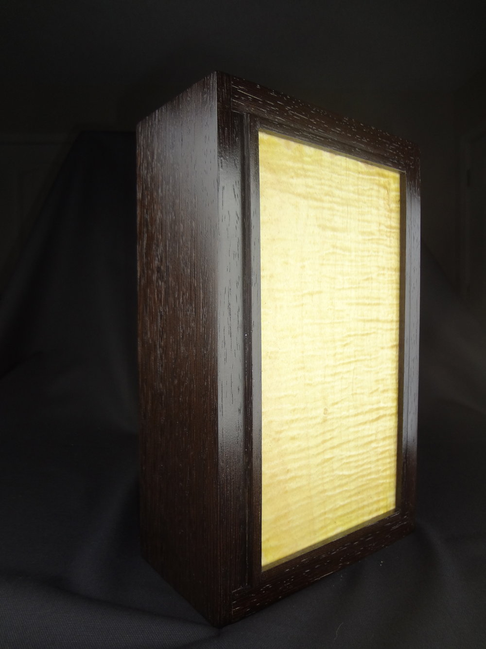 Wenge and maple lamp $85.00