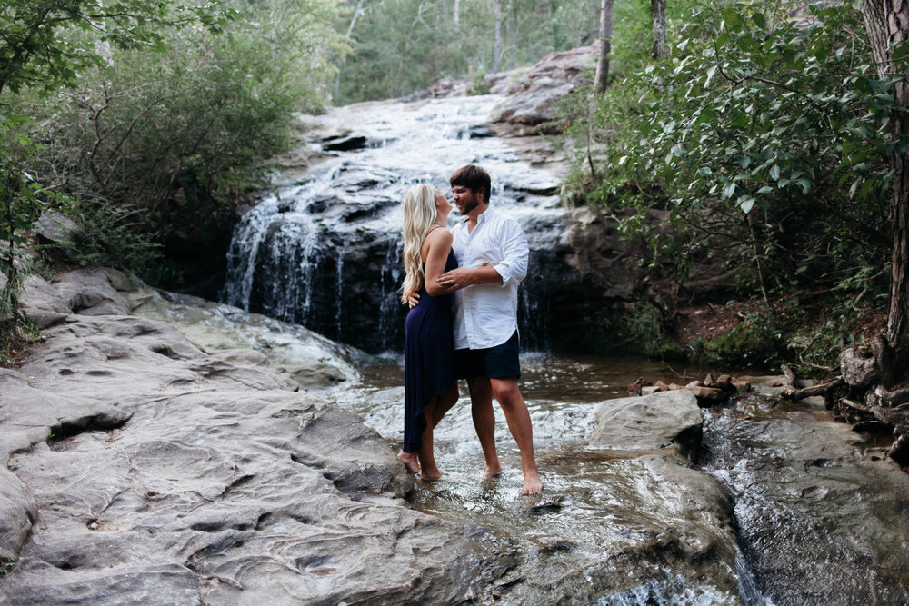 Dustin + Sarah - Takin' a dip in the waterfall