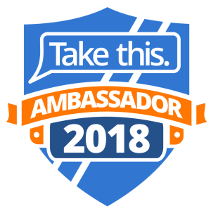 Take This - Take This Streaming Ambassadors will serve as frontline, grassroots innovators and motivators in Take This' fight against stigma, hopelessness, and isolation. They will also help in fundraising and awareness campaigns for Take This to further help us with our important mission.Viewers who watch a Take This Ambassador's stream will know what to expect: a place free of shame and ridicule for suffering from mental health challenges. As they actively build stigma-free chats and act as examples for their subscribers and followers, Take This Streaming Ambassadors will exemplify five aspirational principles: Hope, Acceptance, Kindness, Self-care, Effort.About Take This.