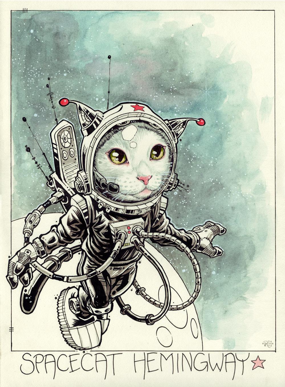 Spacecat Hemingway