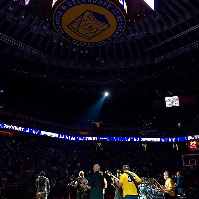 Thank you Back to Back Champions Golden State Warriors #Warriors #DubNation and Tower of Power #OfficialTOPBand. It was both an honor and a pleasure to work with you all at #Oraclearena GO DUBS!