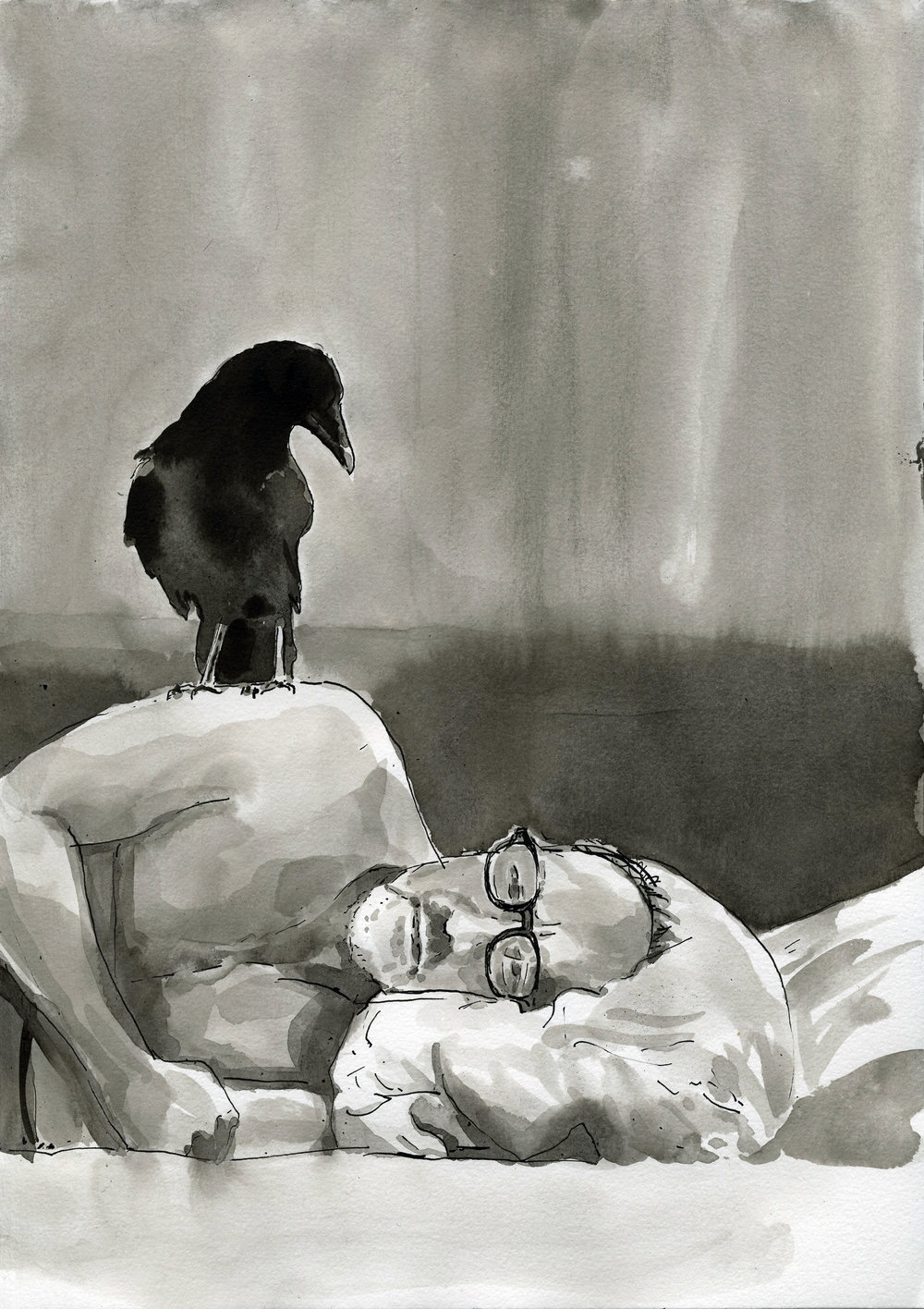 Insomnia - 21x30cm / encre de chine sur papier