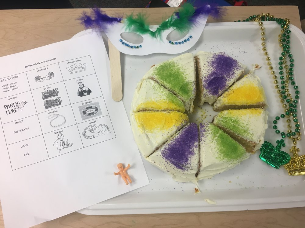 New Orleans Carnaval (French speaking countries Festivals unit) at Jackson Via Elementary Spring 2018