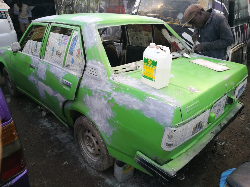 Moha also stil designs personal cars, especially when the matatu business comes down. In the recent past there have been bans on graffiti art on some public vehicles.
