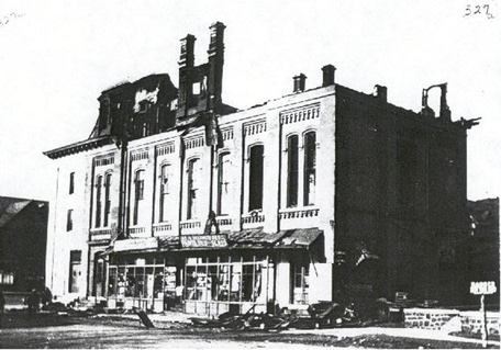 The First Movies at Wayne were Shown at the Opera House