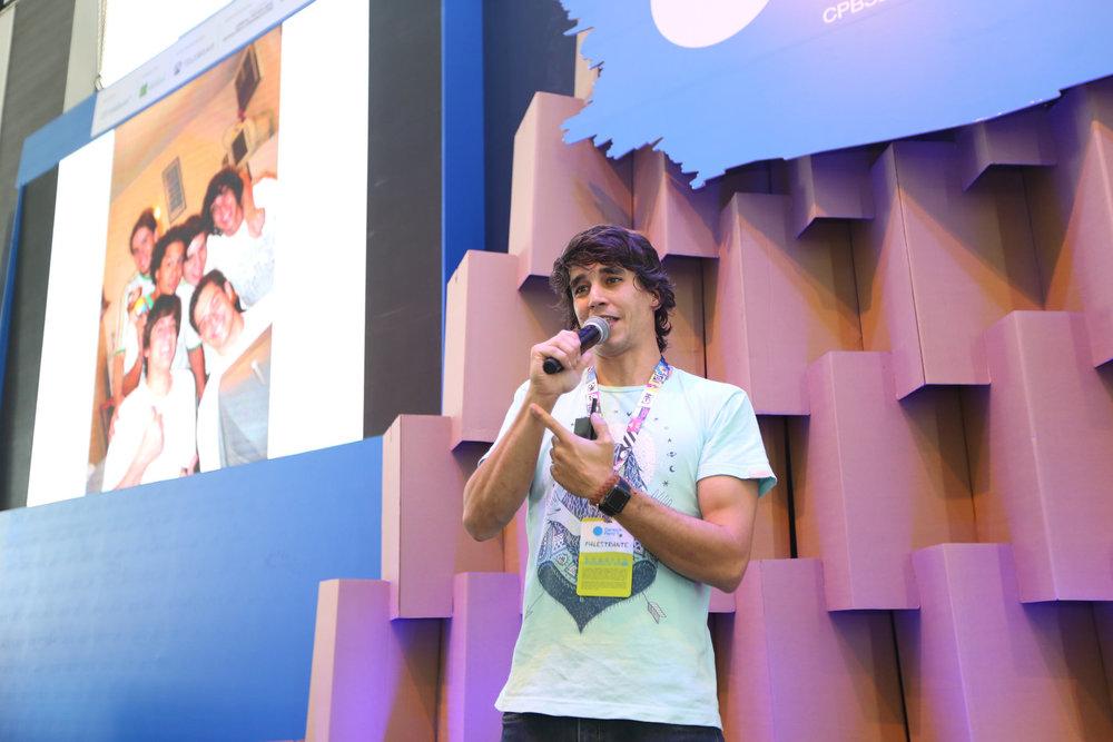 Marcos palestrando na Campus Party