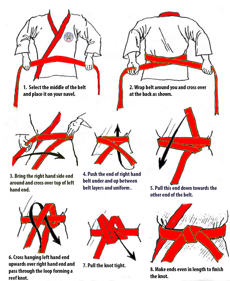 how to tie your belt superior martial arts rh burnabymma com All Karate Belts in Order How Karate Belt Tying