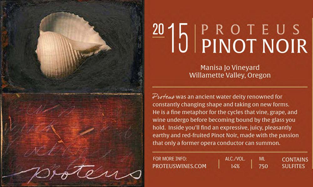 Proteus 2015 Manisa Jo Vineyard Pinor Noir - 93 points (Cellar Selection)