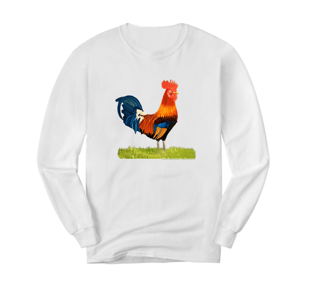 White Long Sleeve Rooster.png