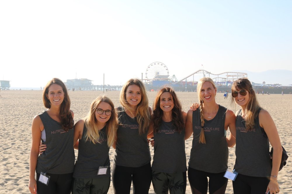 The Nutritious Life Team on the beach in Santa Monica!