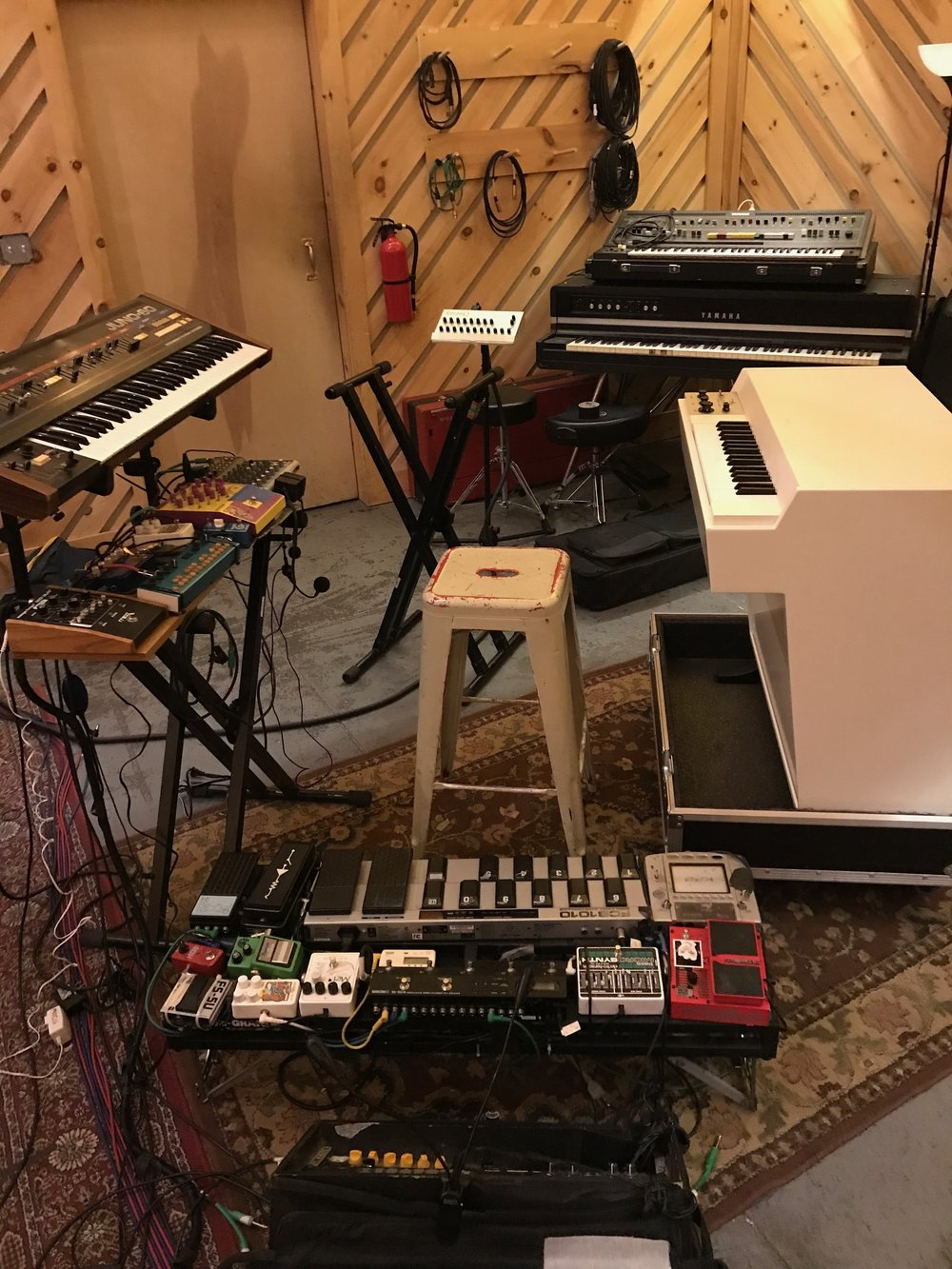 this is my set up for 3 days note the beautiful mellotron