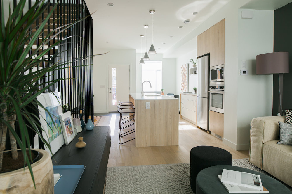 Element Urban Village modern townhouse condo interior rendering