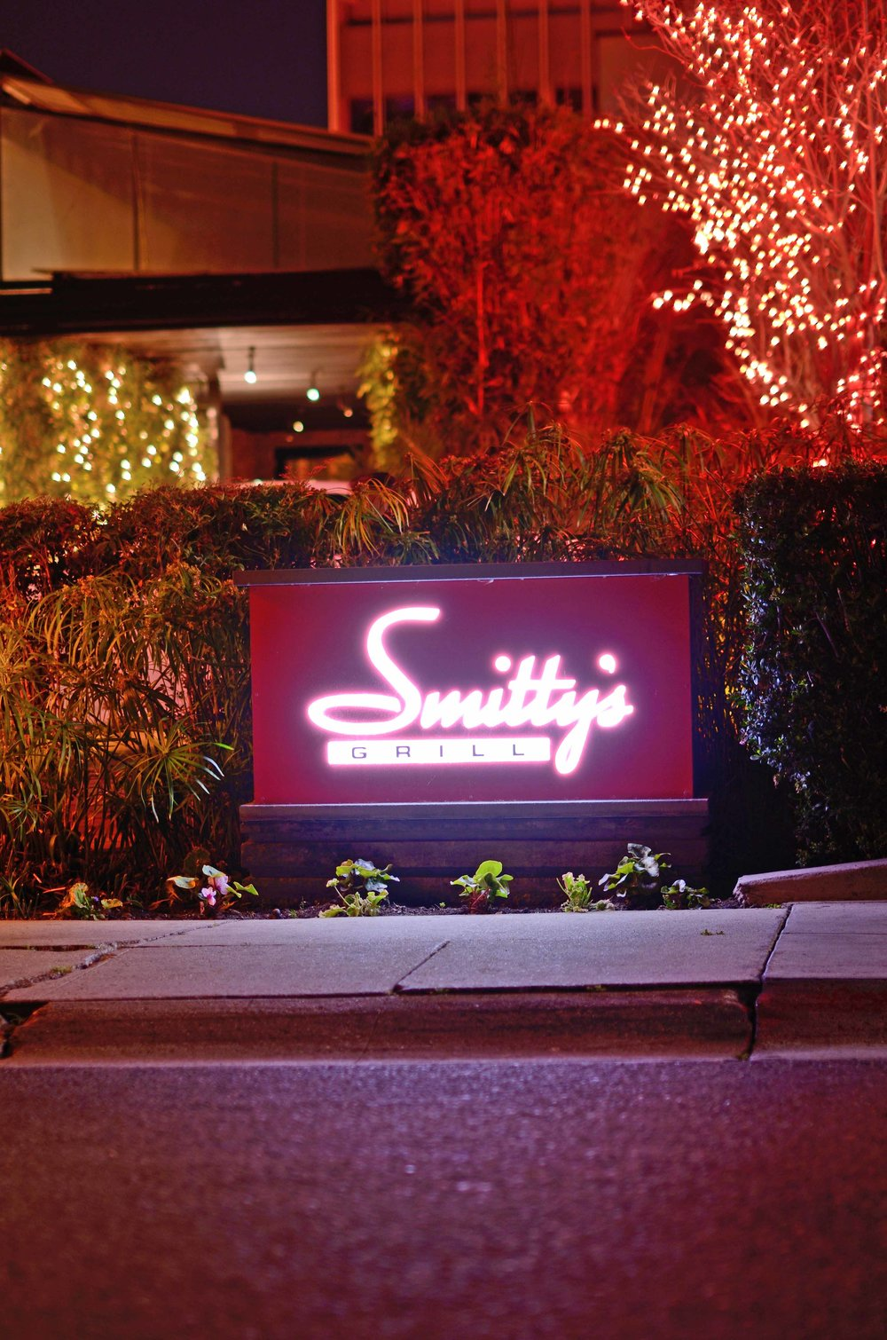 Smitty's Grill Sign by Valet on Shoppers Lane