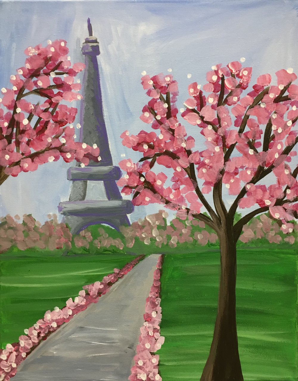 Spring Eiffel Tower (difficult)