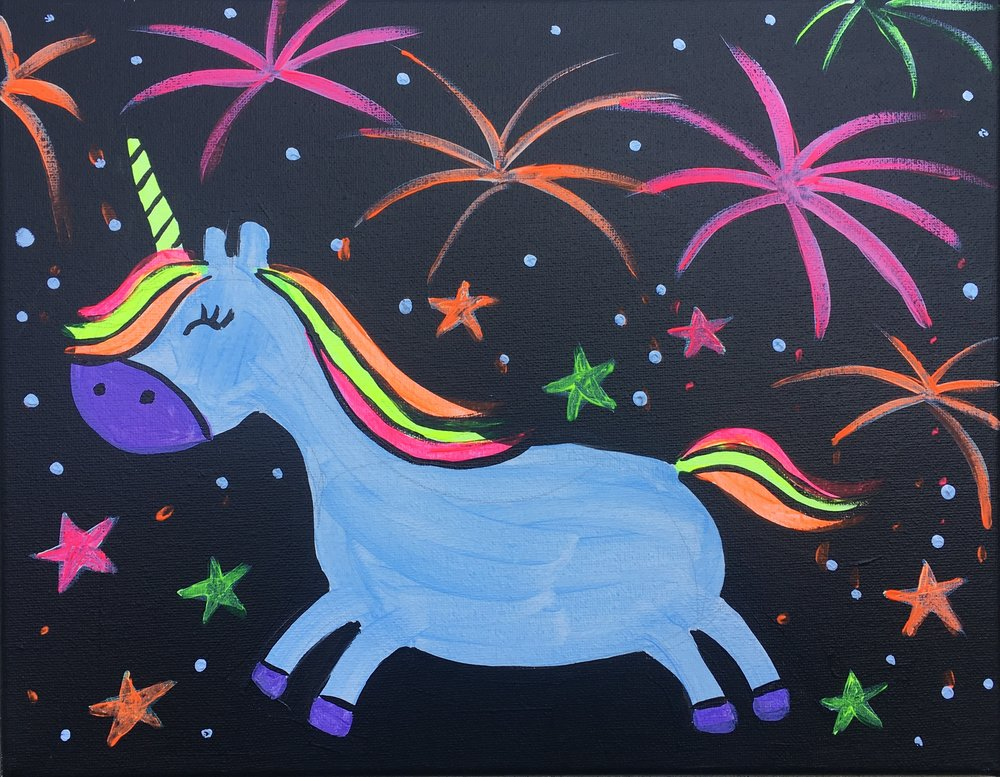 Unicorn & Fireworks!