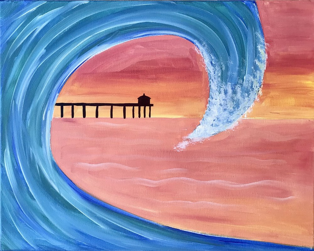 Manhattan Beach Pier Inside a Wave
