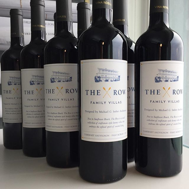 Love these custom wine labels we designed for The Row, a new development of family villas at Sunflower Beach, designed by Michael G. Imber Architects!