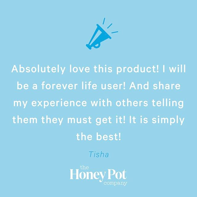 We're in the Honey Pot business. And boy do we love our customers! 😍😍😍😍 Available at @target stores nationwide or by clicking the link in our bio.
