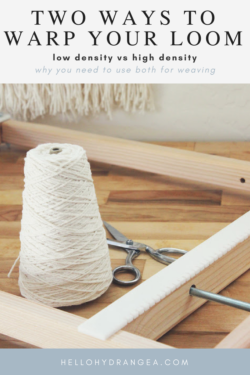 how to warp a weaving loom