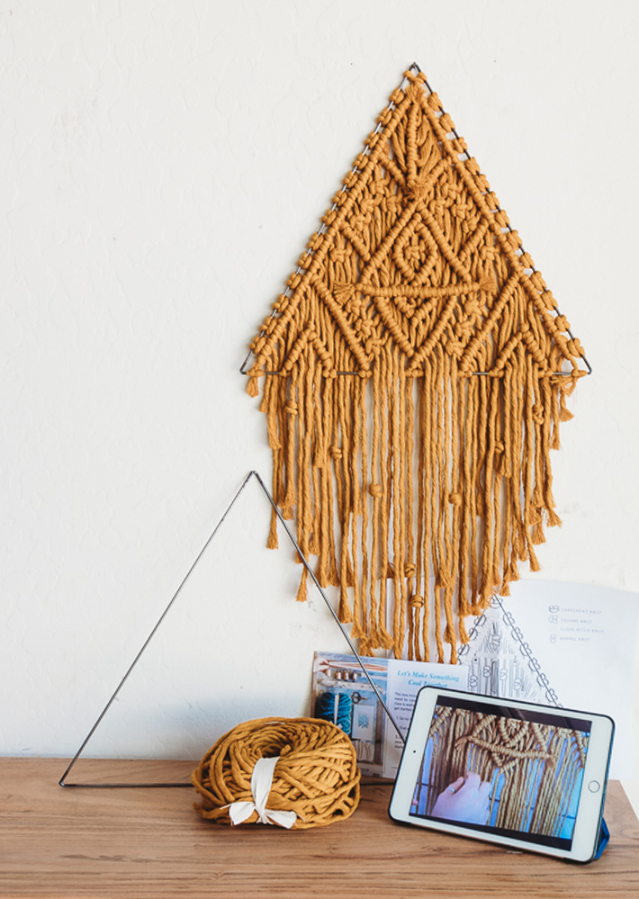 large macrame triangle kit