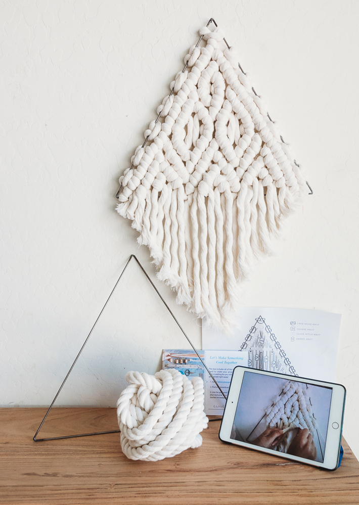 chunky macrame triangle kit