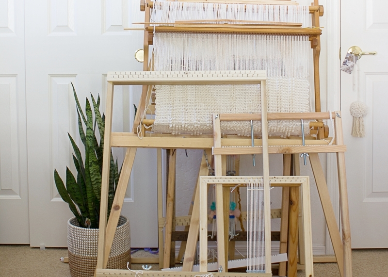 Build Your Own Loom - With a lot of experience using looms, I've designed one that is perfect for tapestry weaving.  This loom is very easy to build on your own and will allow you to jump into weaving.