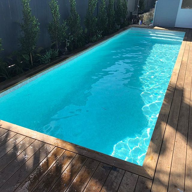 We're excited to start up a new fully tiled pool at Fairlight for Doug and the team at Reliant Constructions. The Tallowood timber decking around the pool by Reliant. #malibupools #pooldecking #fairlightpoolbuilder #tiledpool