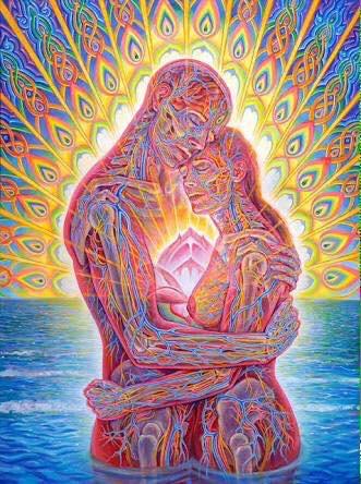 Ocean of Love Bliss by Alex Grey