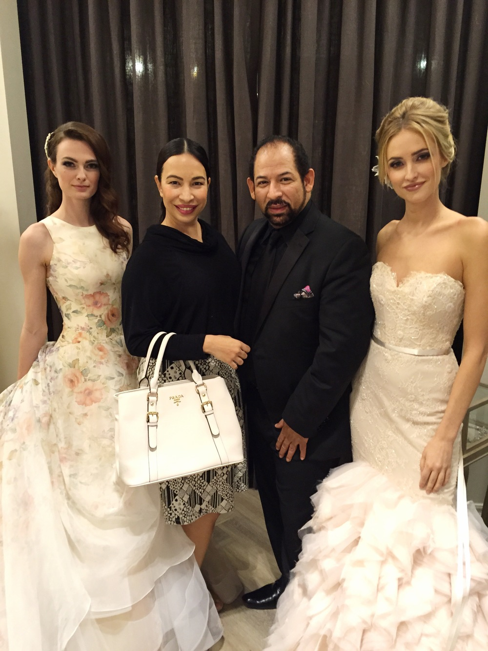 WOTP with Lazaro himself and the two stunning models from last night's show