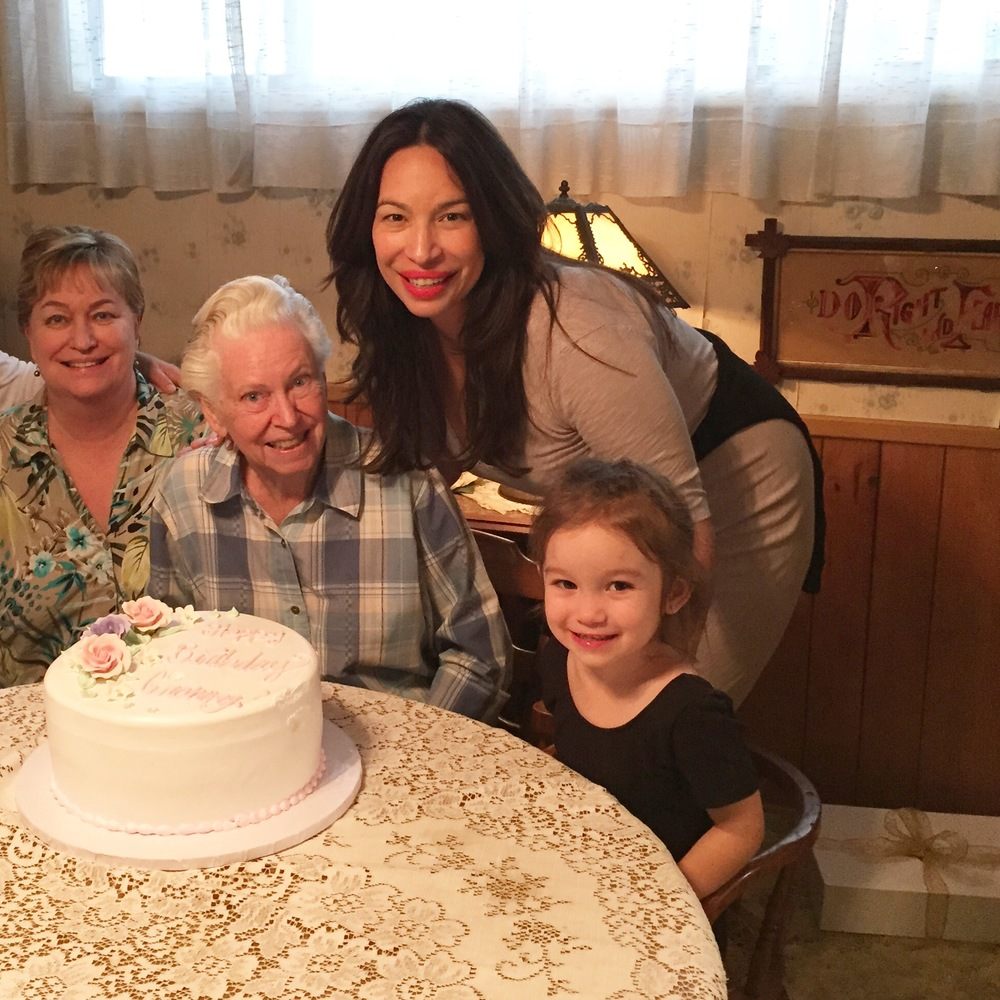 Here is my grammy just recently on her birthday - four generations: