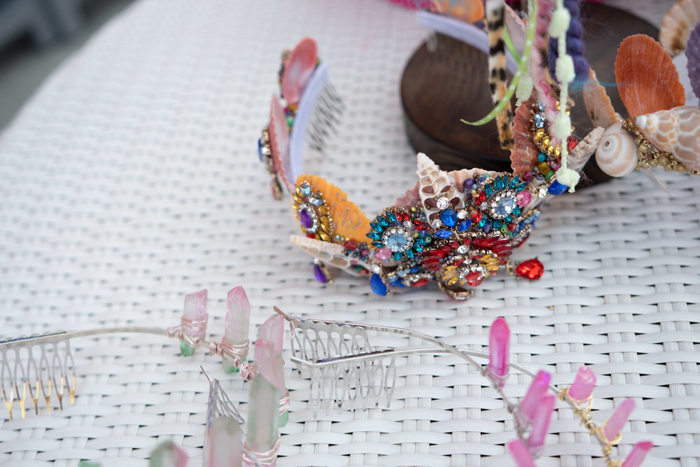 Peek Inside Celebrity Pre-Coachella Gifting Suite scarlet harlow colorful seashell headband.jpg
