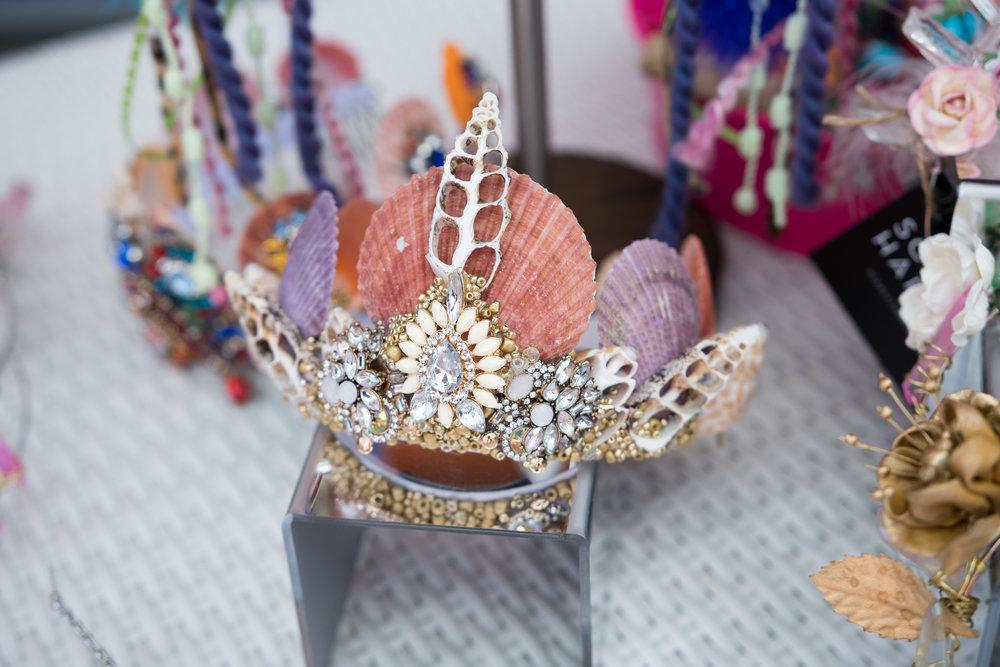 Peek Inside Celebrity Pre-Coachella Gifting Suite seashell headdress.jpg