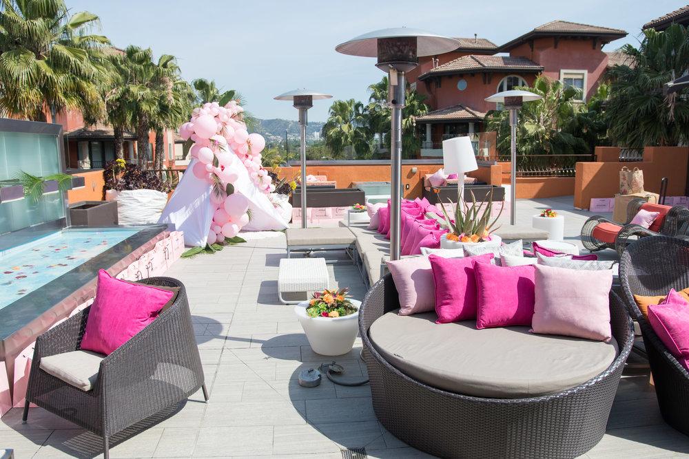 Peek Inside Celebrity Pre-Coachella Gifting Suite PLT party poolside.jpg