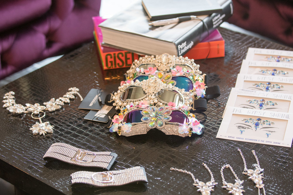 Peek Inside Celebrity Pre-Coachella Gifting Suite embellished sunglasses.jpg