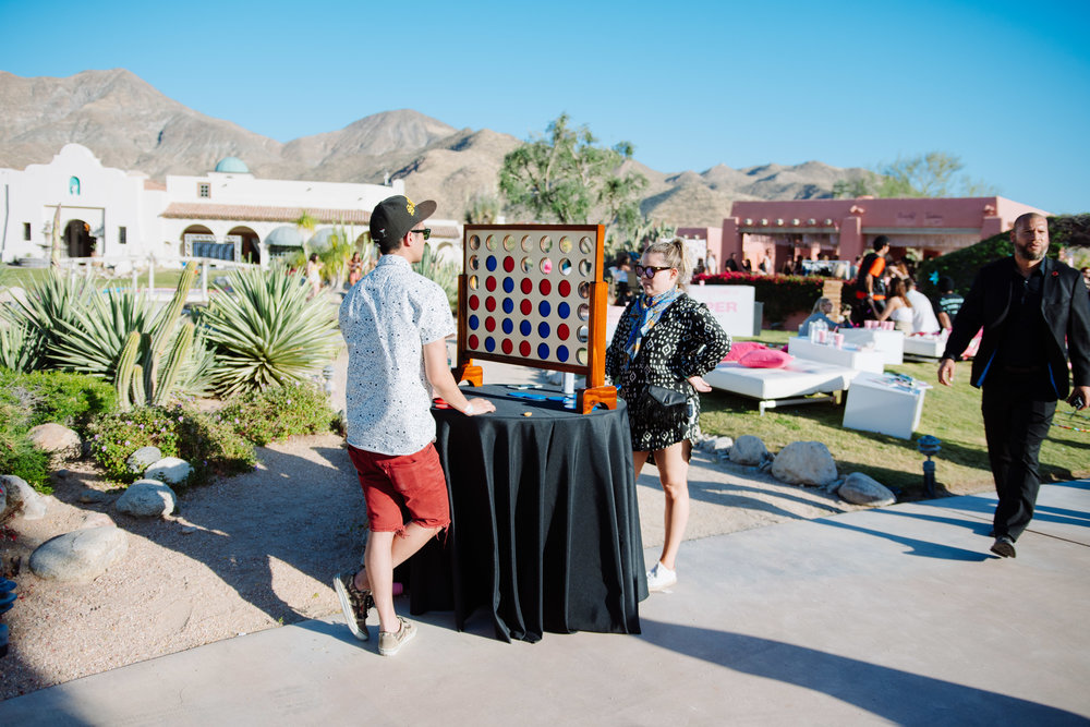 Ultimate Hollywood Coachella Poolside Party life size connect four.jpg