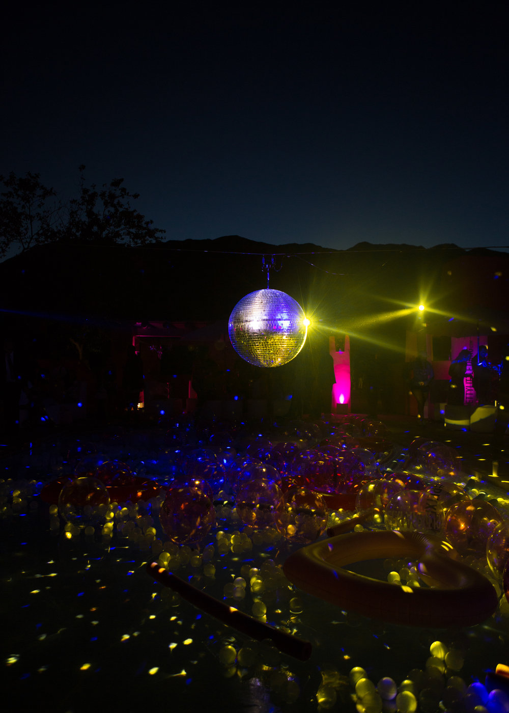 Ultimate Hollywood Coachella Poolside Party glow lights fill the pool.jpg