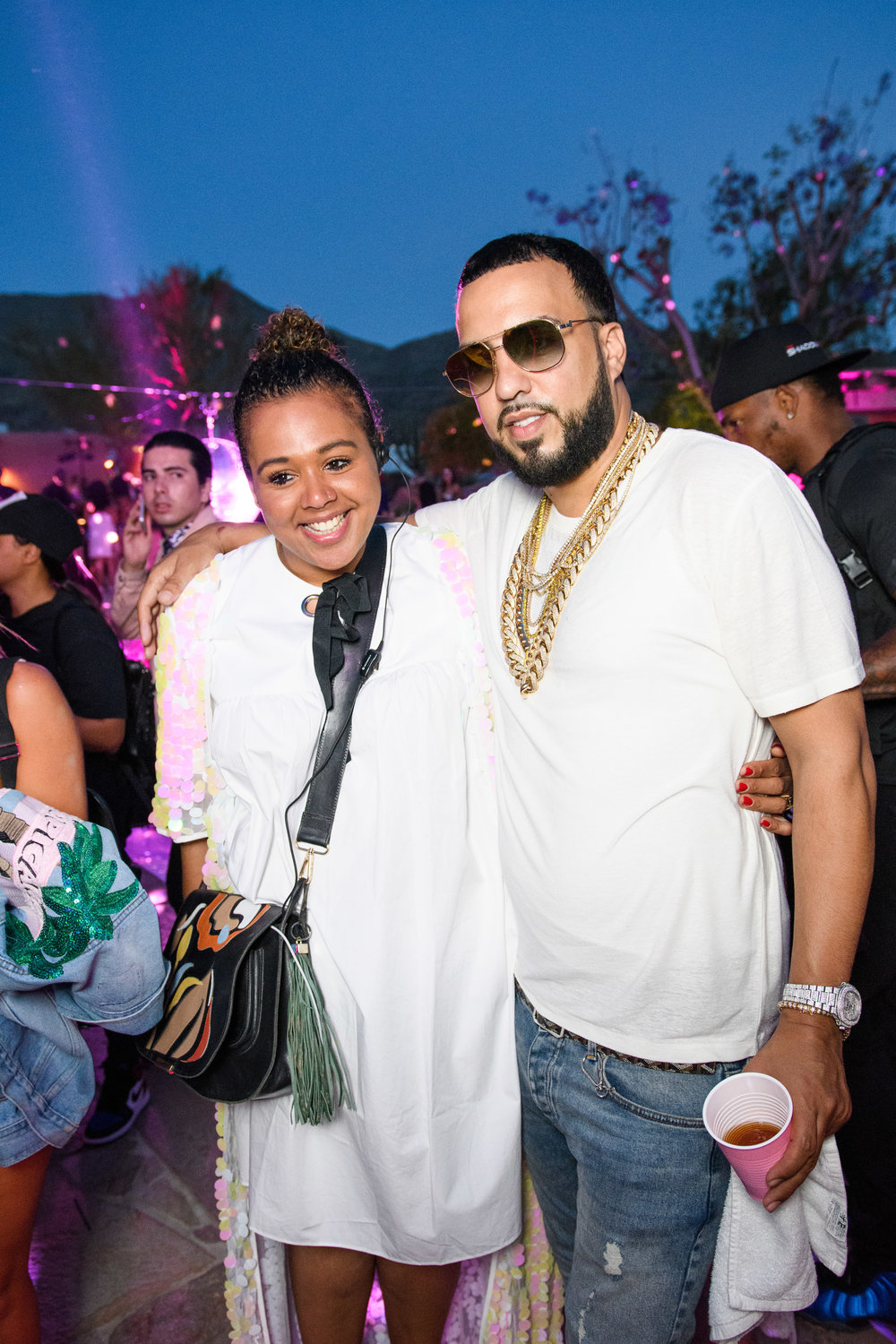 Ultimate Hollywood Coachella Poolside Party french montana and fan.jpg