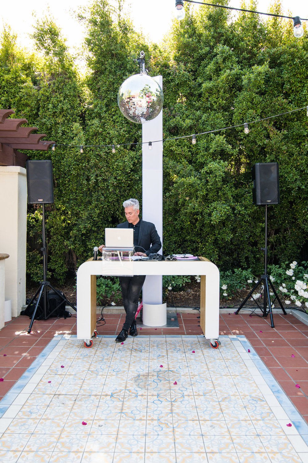 Vibrant Fiesta Backyard Wedding Reception dj herick.jpg