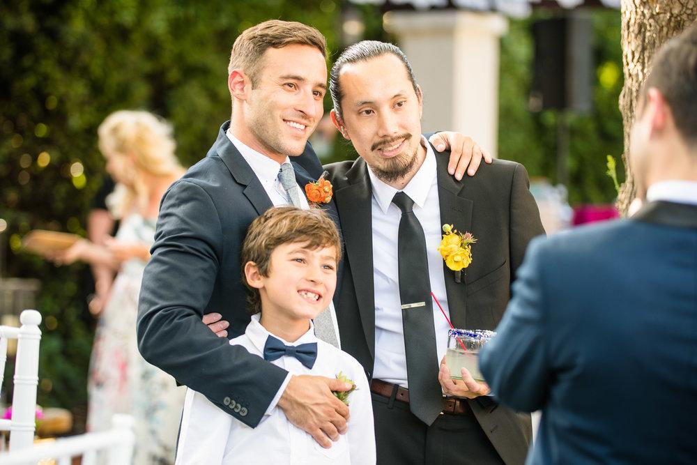 Vibrant Fiesta Backyard Wedding Reception happy guests.jpg