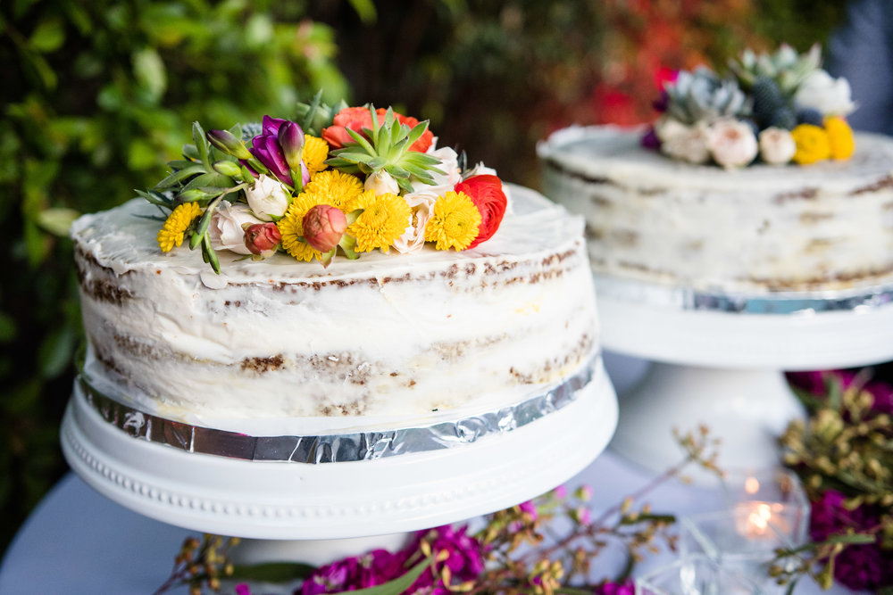 Vibrant Fiesta Backyard Wedding Reception wedding cake.jpg